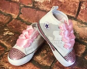 Converse Crib / Customised Converse / Personalized Converse / Christening Shoes / Rhinestone Converse / Baby Converse / SWAROVSKI® crystals