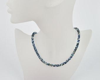 crochet necklace confetti - crochet rope, beaded braclet beadwork