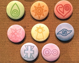 DigiDestined Crest Buttons