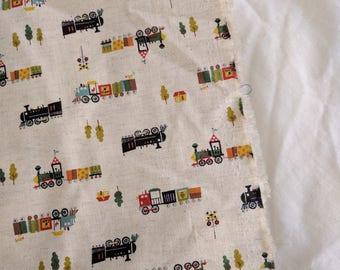 Japanese Trèfle created by Kokka train fabric