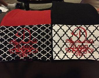 Monogramed  decorative towels