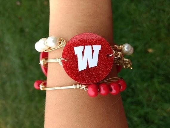 SALE, WKU bangle bracelet, Western Kentucky University bangle bracelet, Wire wrapped bangle, Ky Bangle, Kentucky Bracelet, New Year Sale