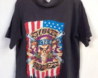 Rare vintage Guns N Roses 91-92 band tshirt L