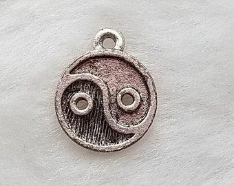 Yin Yang Charm - Pewter