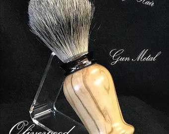 Shaving Soap Brush in Gun Metal