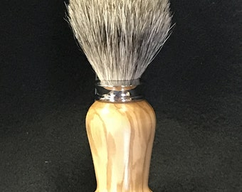 Shaving Soap Brush in Chrome