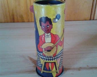 Vintage Negro Black Americana Tin Noisemaker Toy German