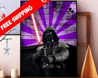 Star Wars Art, Darth Vader Poster, Star Wars Print, Darth Vader Wall Art Decor, Star Wars Modern Art, Sci Fi Art Poster, Kids Room Decor