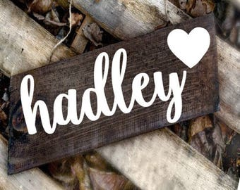 personalized nursery name sign, rustic name sign, personalized name sign, nursery sign