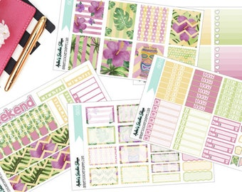 Aloha Weekly Kit for ECLP Vertical Planner Stickers