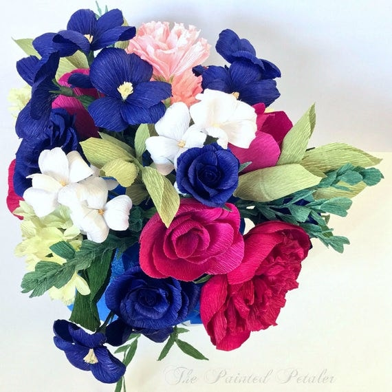 Custom Paper Flower Arrangement, Customize or Be Surprised, Unique Handmade Gift, Paper Flower Assortment, Custom Personalized Art, Florals