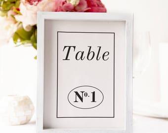 Wedding Table Numbers/printable wedding table numbers/ wedding table decor/table number card
