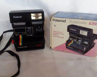 Polaroid Supercolor 635CL Instant Camera, Polaroid Camera, Vintage Camera, Retro Camera,