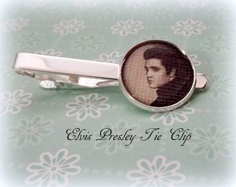 Elvis Presley Tie Clip, Gift for Elvis Presley Fan, Gift for Boyfriend, Husband Gift, Music Lover Gift for Men, Groom Tie Clip, Gift for Him