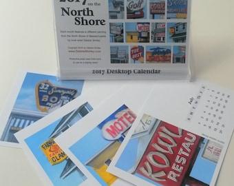 2017 Desktop Calendar North Shore Icons Neon Signs