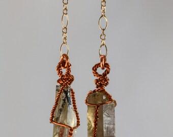 Quartz Crystal Dangle Earrings #4