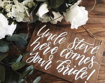 Flower girl ceremony sign | Page boy sign | Ceremony sign | Wedding decor | Wooden wedding sign | Ring bearer sign | Rustic wedding
