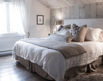 "Duvet cover / 100% linen / bed / 108 ""x 95"""