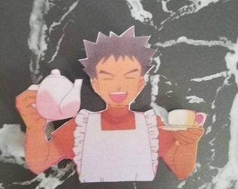 Brock Tea and Apron Sticker