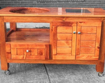 Custom Big Green Egg Table (Free Shipping For Some Areas) Small, Medium,