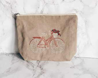 Bike Lover Gift, Bicycle lover present, Bicycle Zipper bag, Gifts for Cyclists, Bicycling Gift Ideas, Gift for Her