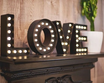 LED Marquee LOVE letter lights pack set - Ideal for homeware, weddings, parties