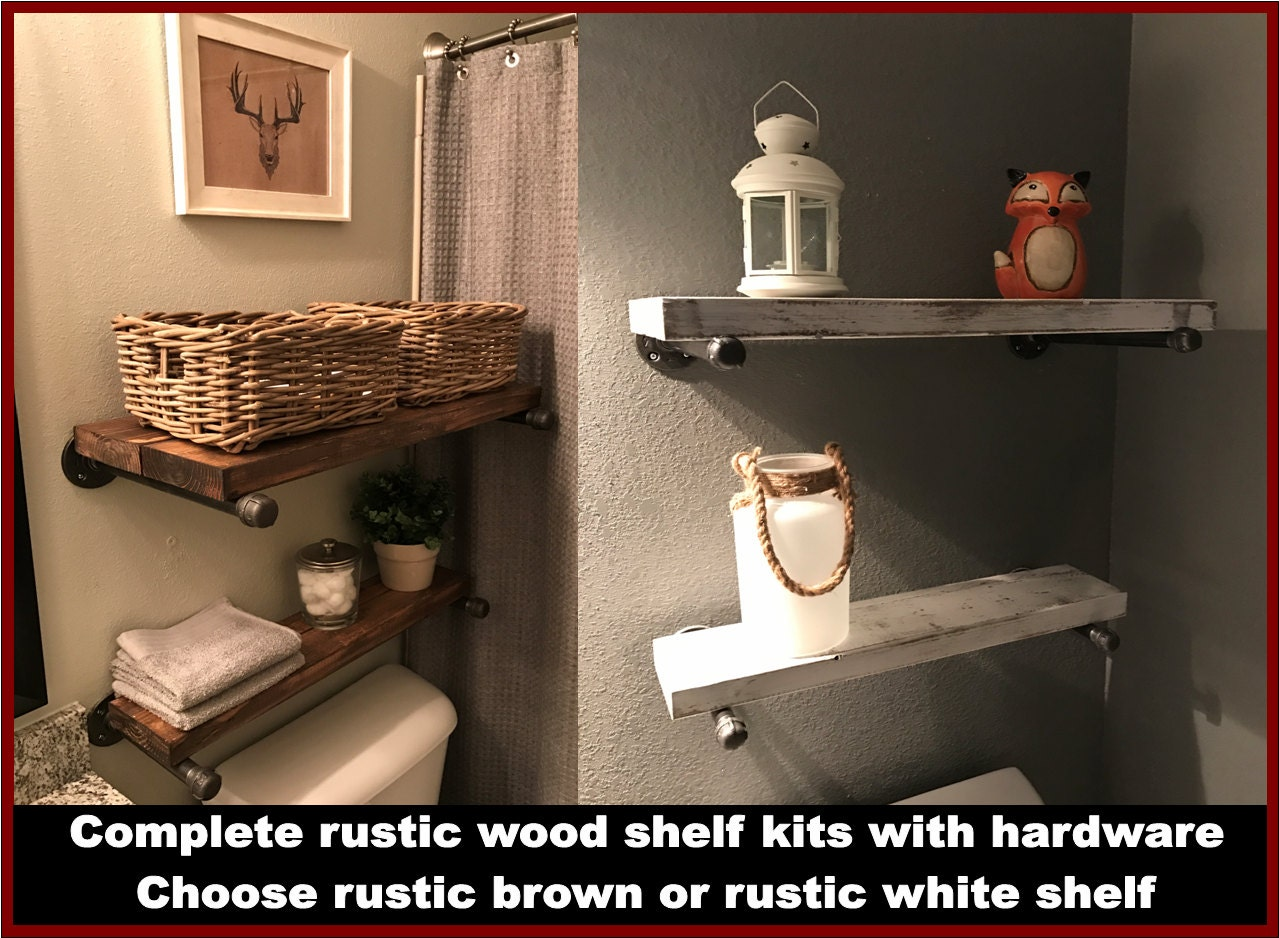 ... Wall Shelving, Industrial Wood Shelving $37.50 Shelves, Hanging Shelves,  Wood Shelves, Bathroom Shelves, Kitchen Shelves, Rustic Shelves