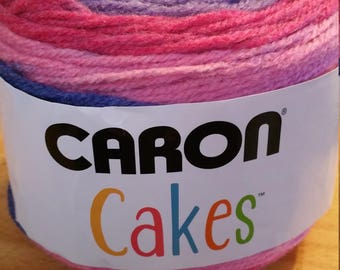 Caron cake in color mixed berry