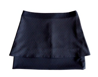 Navy Blue duo trapeze skirt and small poisBonny