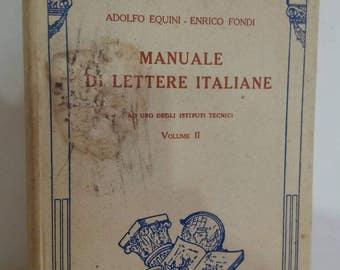 Ancient book of Italian literature of 1936