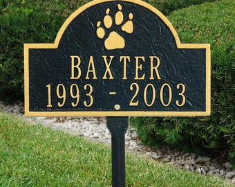 Dog Paw Mini Arch Pet Memorial Marker