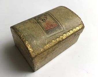 Gold Leafed Stamp Box Florence Italy