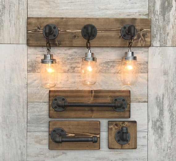 wood bathroom light fixtures bathroom set vanity light fixture toilet paper towel 21675