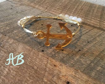 Gold Mirrored Anchor Bangle