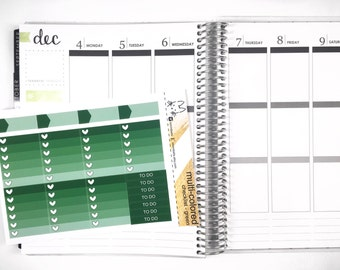Green Ombre Heart Checklist! Perfect for the Erin Condren Life Planner!