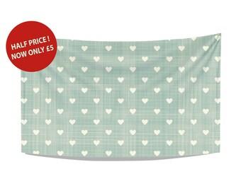 hearts tea towel