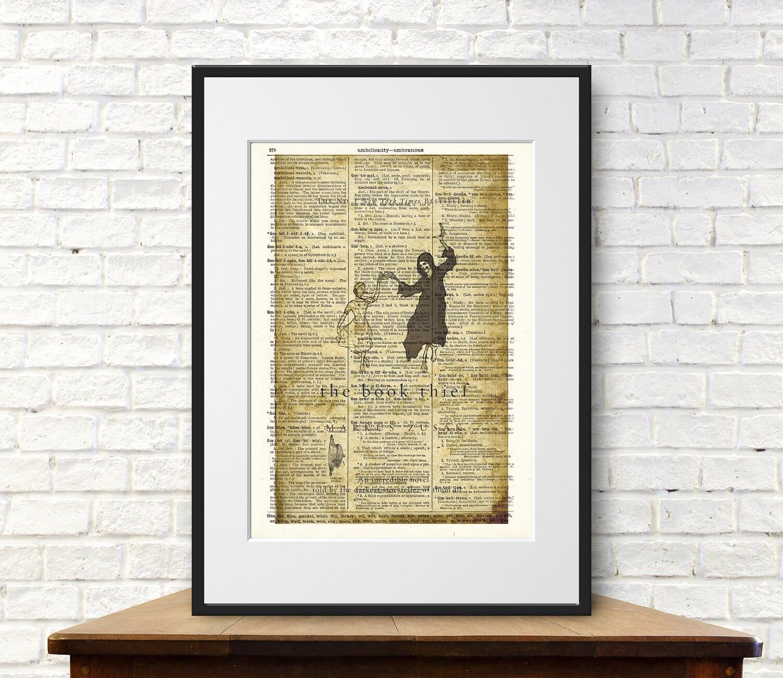 The Book Thief by Markus Zusak. Book Cover Art Print ...