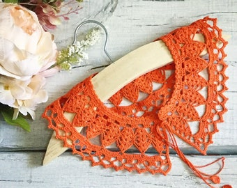 Lace Crochet Collar Handmade Collar Accessory Vintage Collar Peter Pan Collar Detachable Collar Feminine gift