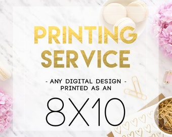 8x10 Printing Service - Print and Mail my Design!