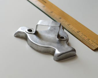 "Vintage AGMC CHICKEN/ROOSTER Cookie Cutter | 1920s 3 5/8"" x 3 3/8"" Aluminum Goods Manufacturing Company"