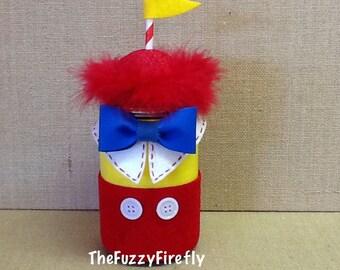 Handmade Tweedle Dee Dum Inspired Mason Jar,Tweedle Dee Party,Wonderland Decor,Wonderland Baby Shower Decor,Party Favor,Wonderland Party