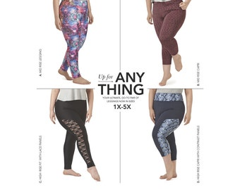 Simplicity sewing pattern 8327 women's plus-size leggings size 1X-5X NEW 2017