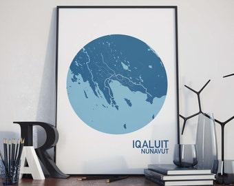 Iqaluit, Nunavut City Map Print