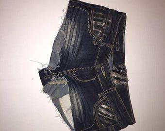 Denim Low Waist Daisy Dukes Shorts size 24