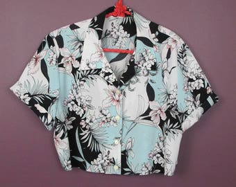 Reworked Vintage Floral Button up Shirt