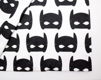 Batman Baby Swaddle, Boy Baby Blanket, Knit Blanket, Cookie Swaddle, 100% Organic Knit cotton, Baby gift, Superhero, Homecoming Blanket,