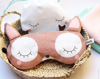 Sleeping mask * deer * / sleep / Animal / forest / soft / comfort / dream / travel / vacation / sleep