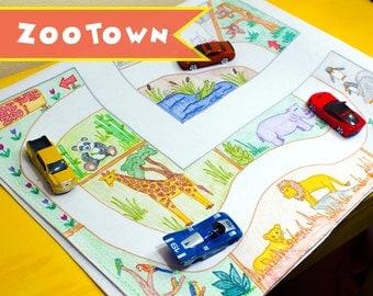car play mat zootown kids toy floor mat unique kids birthday gift
