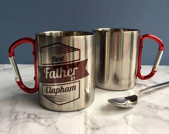 Best Dad Carabiner Mug
