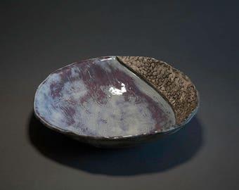 Purple Blue Crescent Dish